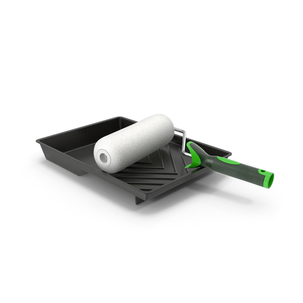 Paint Roller with Tray PNG & PSD Images