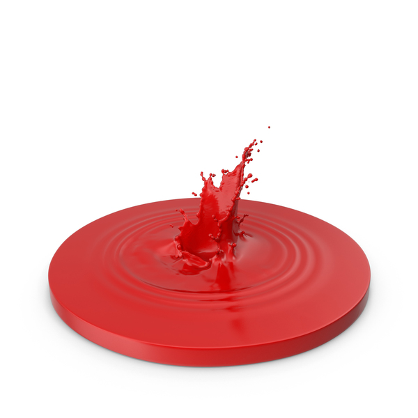 Paint Splash Red PNG & PSD Images