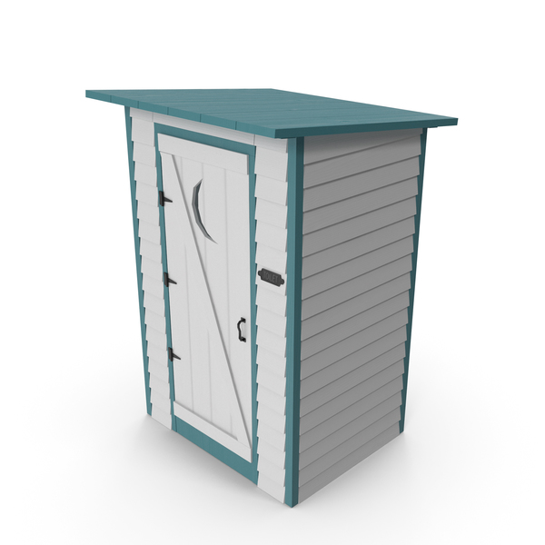 Painted Wooden Outhouse PNG & PSD Images