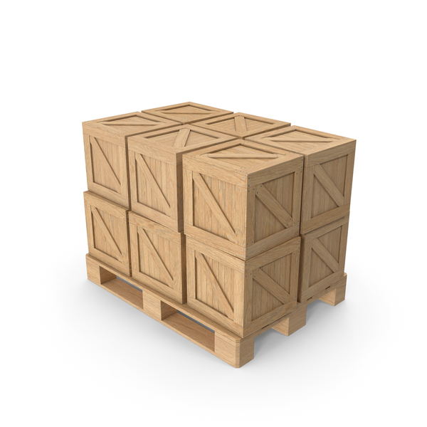 Pallet And Cargo Boxes PNG & PSD Images