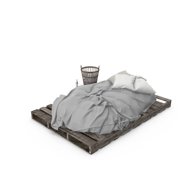 Bedroom: Pallet Bed Set PNG & PSD Images