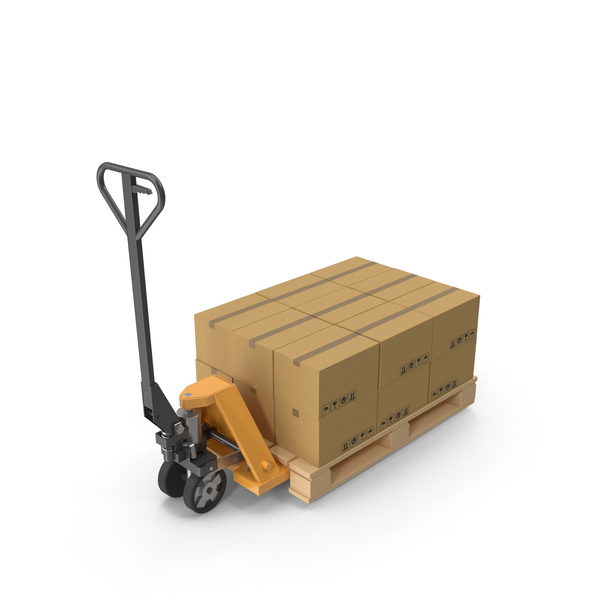 Pallet Jack With Boxes PNG & PSD Images