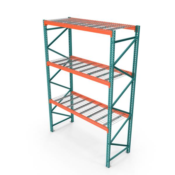 Steel Shelf: Pallet Rack Section PNG & PSD Images