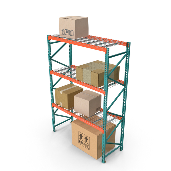 Pallet Rack with Boxes PNG & PSD Images