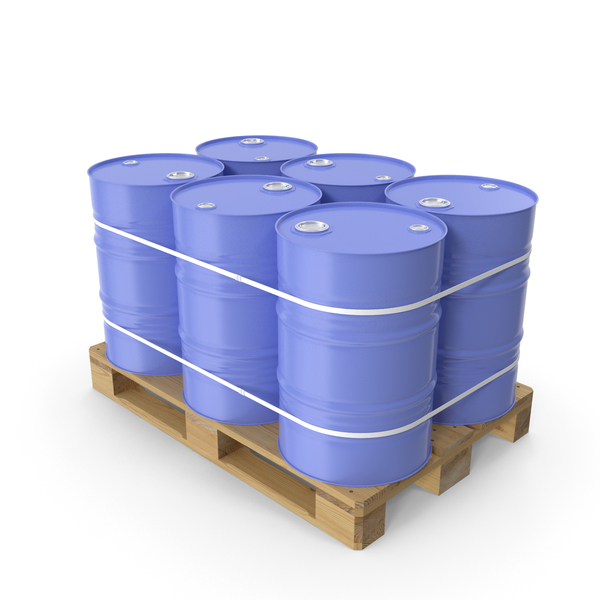 Pallet with Barrels PNG & PSD Images