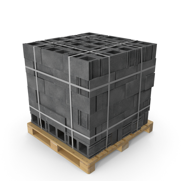 Pallet with Blocks PNG & PSD Images