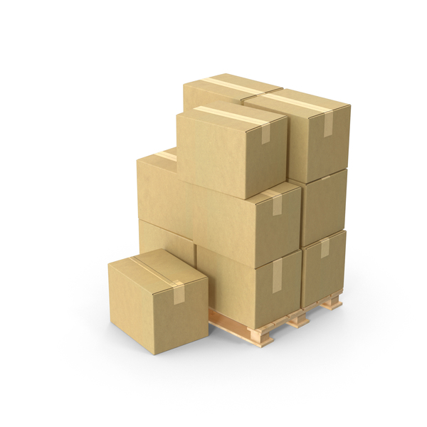 Cardboard Box: Pallet With Boxes PNG & PSD Images