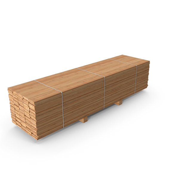 Pallet with Pine Timber PNG & PSD Images