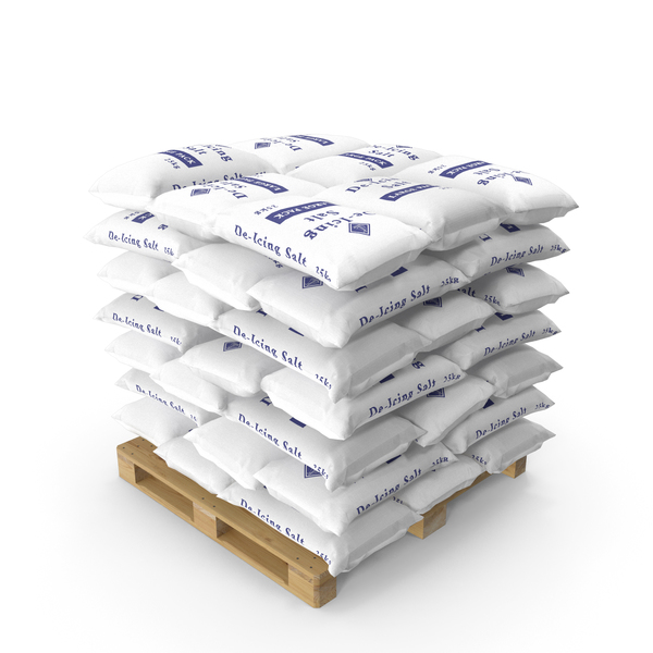 Pallet with Salt Bags PNG & PSD Images