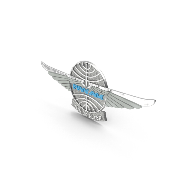 Pan Am Junior Wings Pin PNG & PSD Images