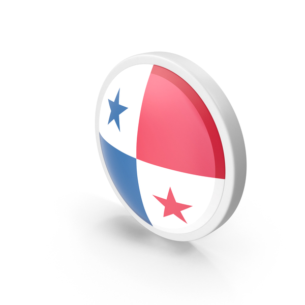 Panama Flag Button PNG & PSD Images