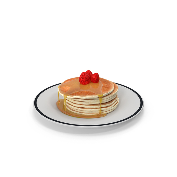 Pancake: Pancakes with Honey and Strawberries PNG & PSD Images