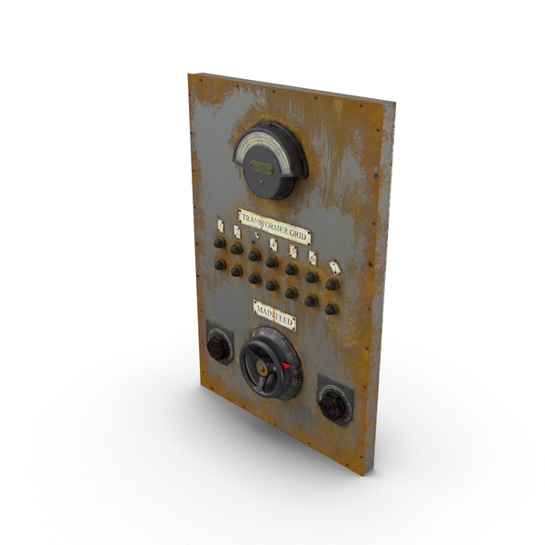 Electrical: Panel with Levers and Gauges PNG & PSD Images
