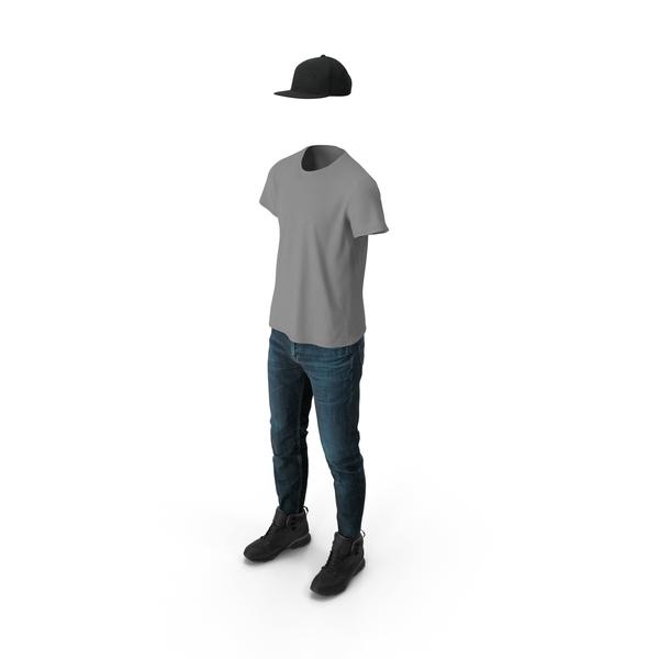 Clothing: Pants Boots T Shirt Cap PNG & PSD Images