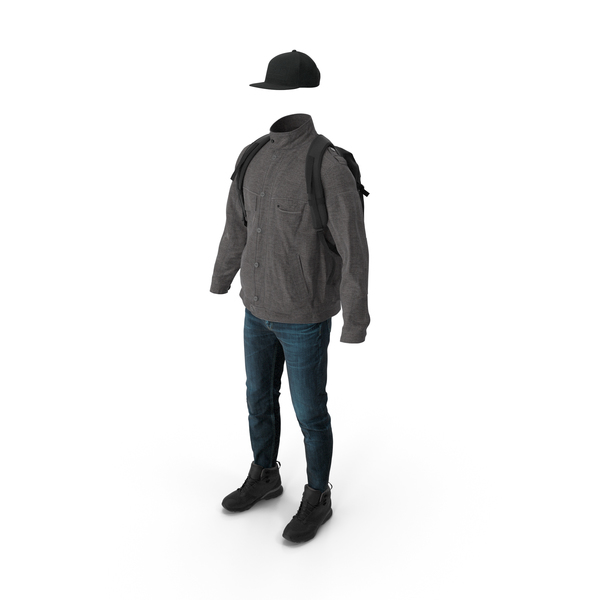 Pants Jacket Boots Backpack Tshirt Cap PNG & PSD Images