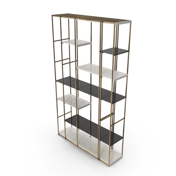 Bookcase: Paolo Castelli Socrate Open Cabinet Etagere PNG & PSD Images