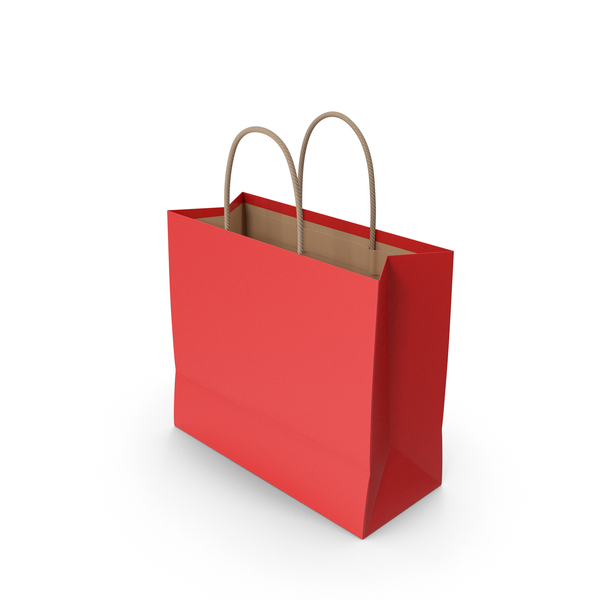 Paper Bag Red PNG & PSD Images