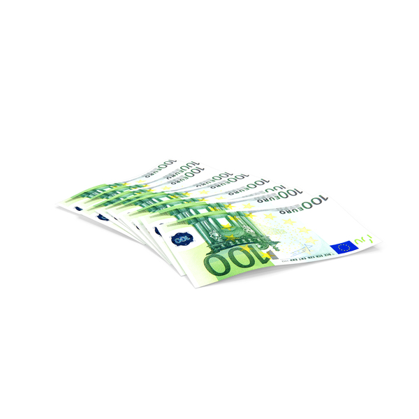 Paper Banknotes Euro 100 Bundle PNG & PSD Images