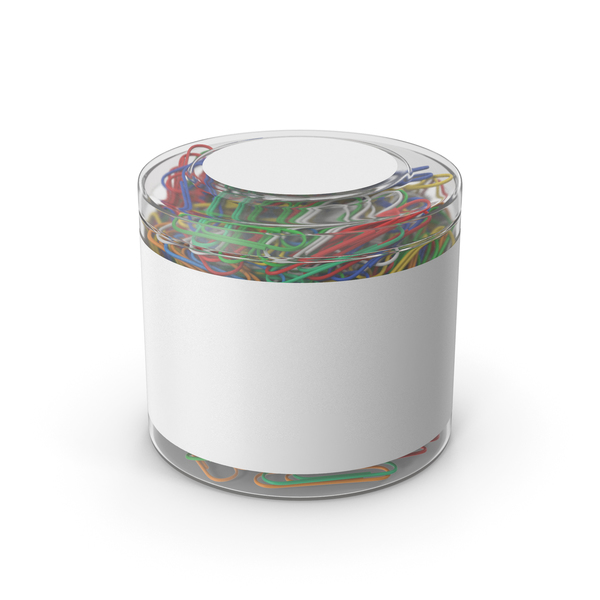 Paper Clips In Plastic Cup PNG & PSD Images