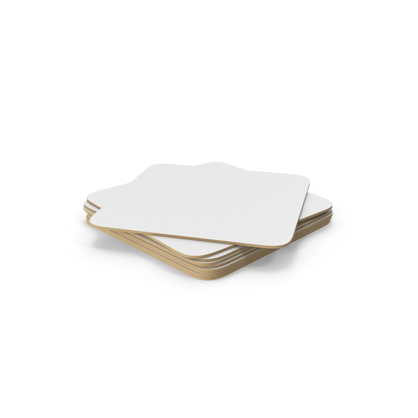 Paper Coaster Stack PNG & PSD Images