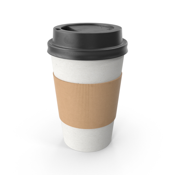 Paper Coffee Cup Black Lid PNG & PSD Images