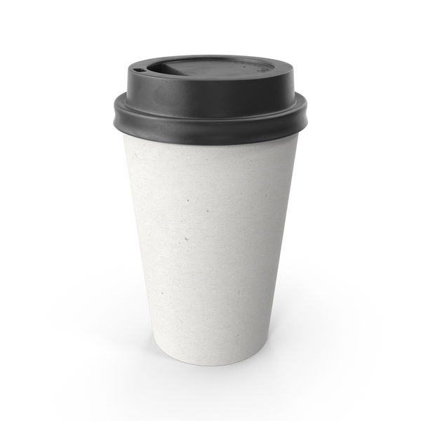 Paper Coffee Cup Blank with Black Lid PNG & PSD Images