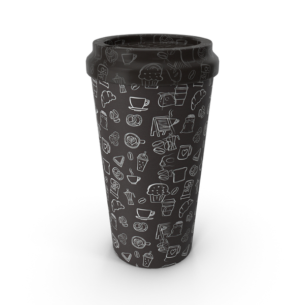 Zarf: Paper Cup Brown Patterned PNG & PSD Images