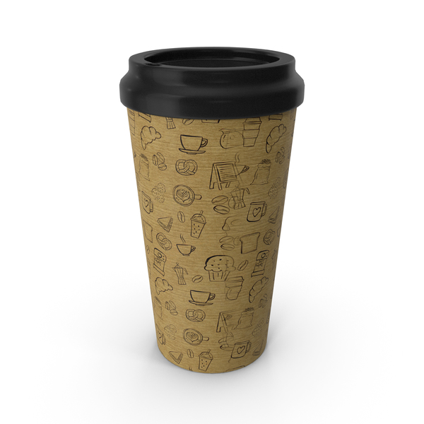 Paper Cup Patterned PNG & PSD Images