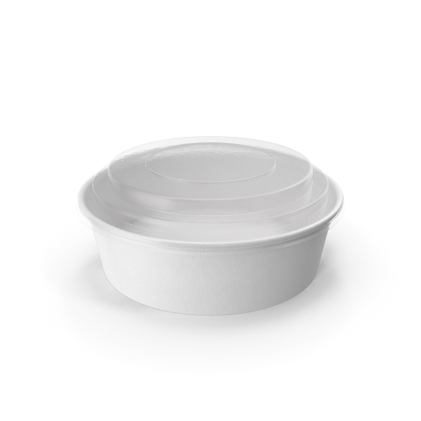 Paper Food Bowl with Clear Lid for Soup for Salad 20 Oz 500 ml PNG & PSD Images