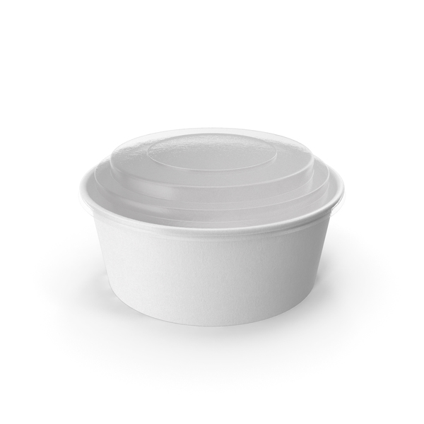 Paper Food Bowl with Clear Lid for Soup for Salad 26 oz 750 ml PNG & PSD Images