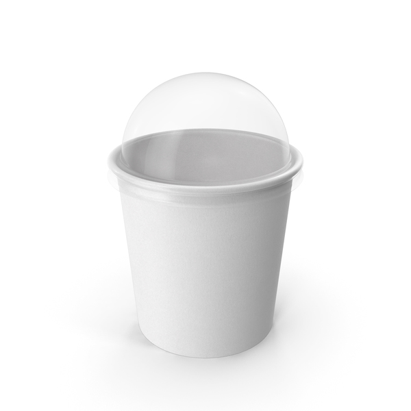 Paper Food Cup with Clear Lid for Dessert 16 Oz 450 ml PNG & PSD Images