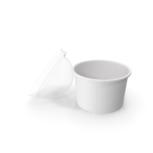 Paper Food Cup with Clear Lid for Dessert 6 Oz 150 ml Open PNG & PSD Images