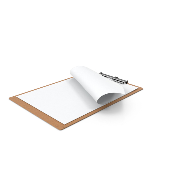 Paper Sheets in Clipboard PNG & PSD Images