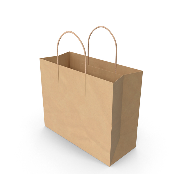 Paper Shopping Bag with Paper Handle PNG & PSD Images