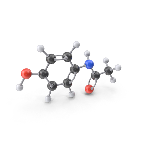Paracetamol Molecule PNG & PSD Images
