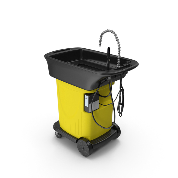 Cleaning Cart: Parts Washer Kit PNG & PSD Images