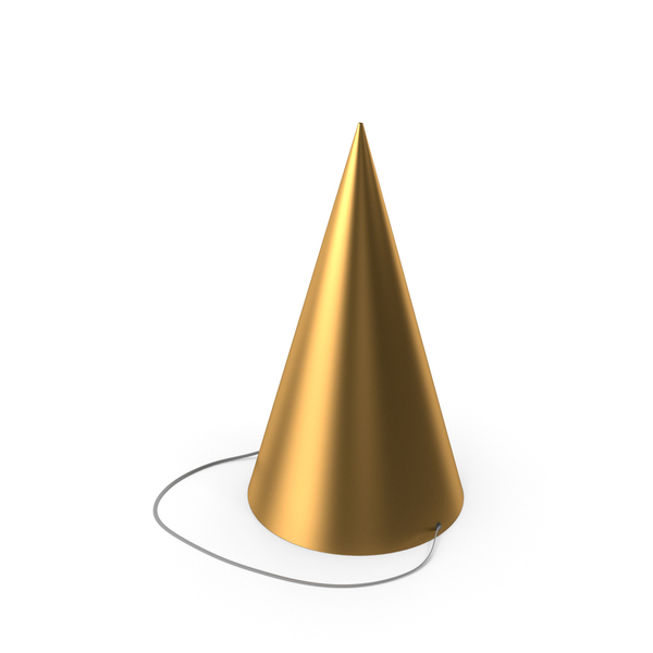 Party Hat Gold PNG & PSD Images