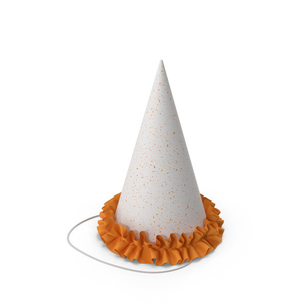 Party Hat with Orange Frill PNG & PSD Images