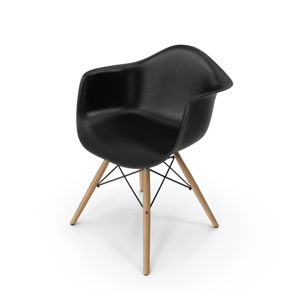 Pascal Black Plastic Modern Shell Chair PNG & PSD Images