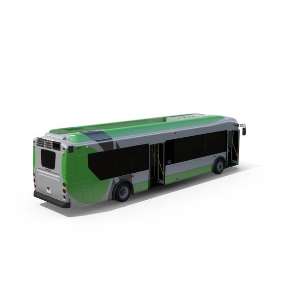 Passenger Bus Doors Open Object