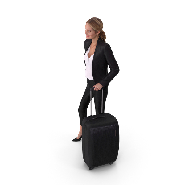 Statue: Passenger Woman With Suitcase PNG & PSD Images