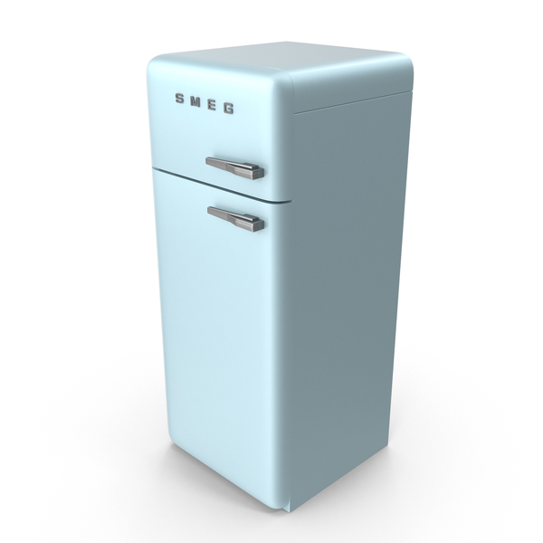 Pastel Blue Refrigerator PNG & PSD Images