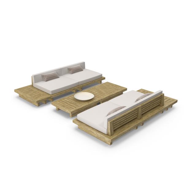 Furniture: Patio Sofa Set PNG & PSD Images