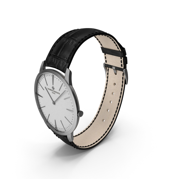 Watch: Patrimony White Dial White and Pink Gold PNG & PSD Images