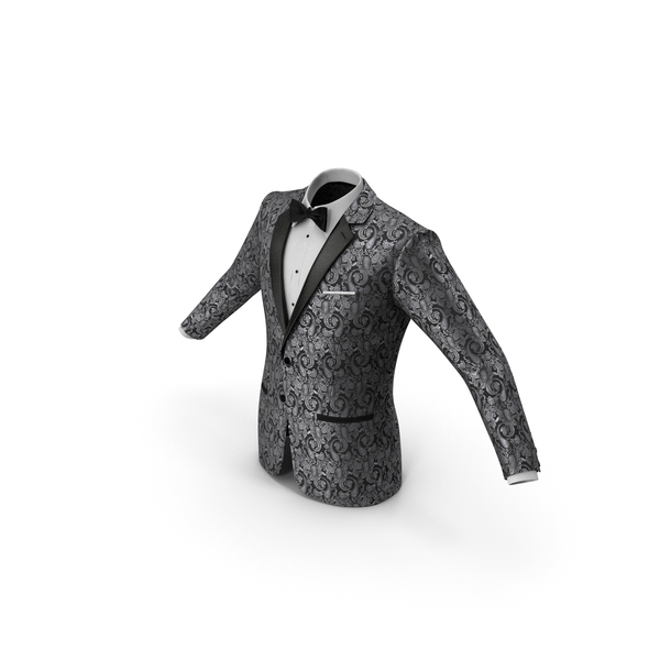 Patterned Tuxedo Jacket PNG & PSD Images