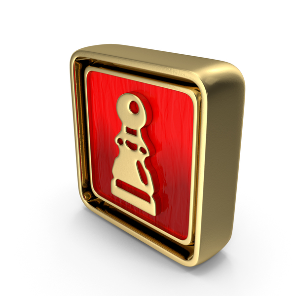 Pawn Icon Gold PNG & PSD Images