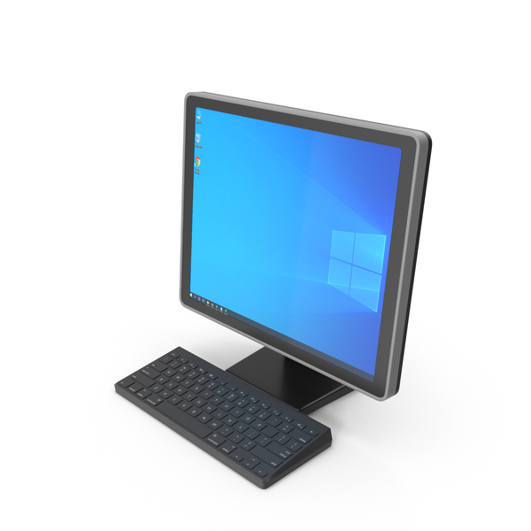 PC Screen and Keyboard PNG & PSD Images