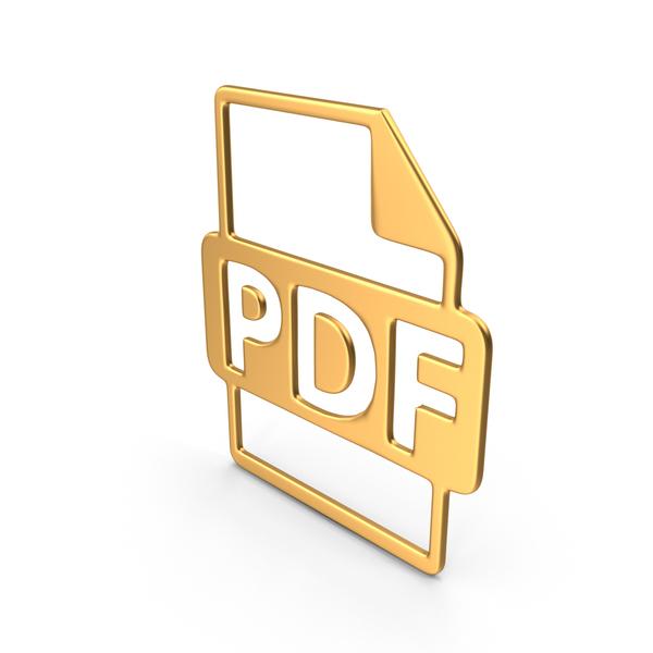 PDF Symbol Gold PNG & PSD Images