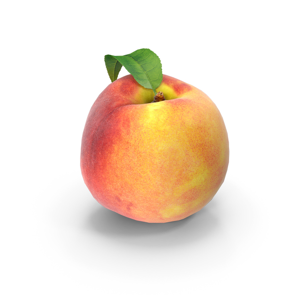 Peach with Leaf PNG & PSD Images