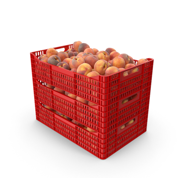 Peaches in Plastic Crates PNG & PSD Images